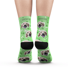 Custom Dog Socks With Your Text - White - MyPhotoSocks