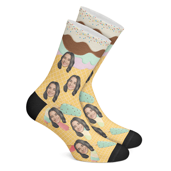 Custom Icecream Socks - MyPhotoSocks