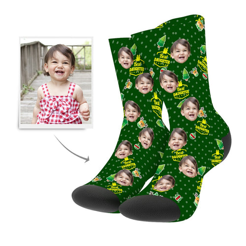 Christmas Custom Daughter Socks - MyPhotoSocks