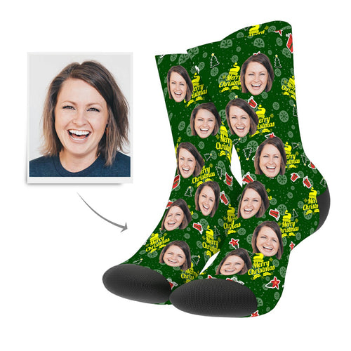Christmas Custom Gifts Cartoon Socks - MyPhotoSocks