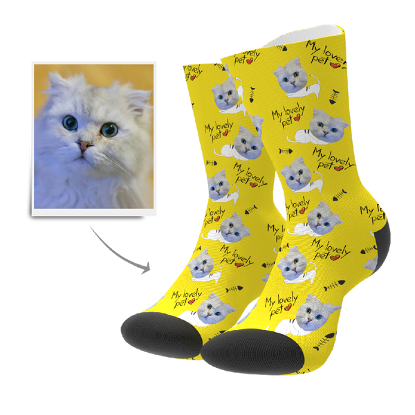 Custom Lovely Pet Socks - MyPhotoSocks