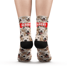 Custom Face Mash Dog Socks - MyPhotoSocks