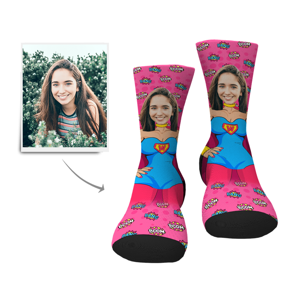 Custom Superwoman Socks - MyPhotoSocks