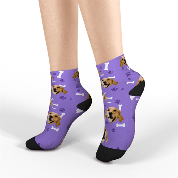 Custom Quarter Socks Dog - MyPhotoSocks