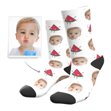 Custom Photo Socks Hot Summer Watermelon - MyPhotoSocks