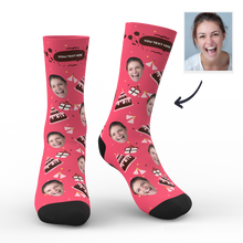 Custom Photo Socks Birthday Gift With Your Text - MyPhotoSocks