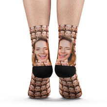 Custom Your Face Mash Socks With Your Text - MyPhotoSocks