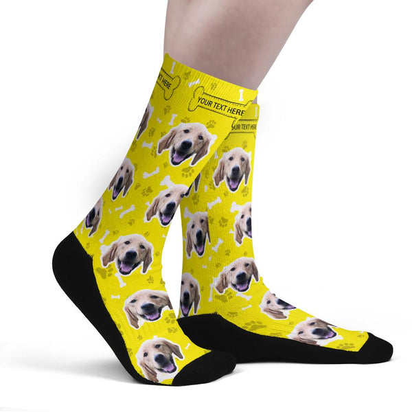 Custom Upgrade Breathable Dog Socks With Your Text