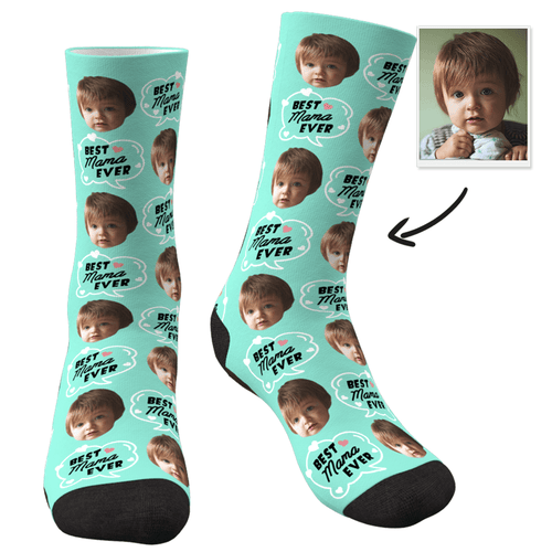 Custom Photo Socks-Best Mom Ever - MyPhotoSocks