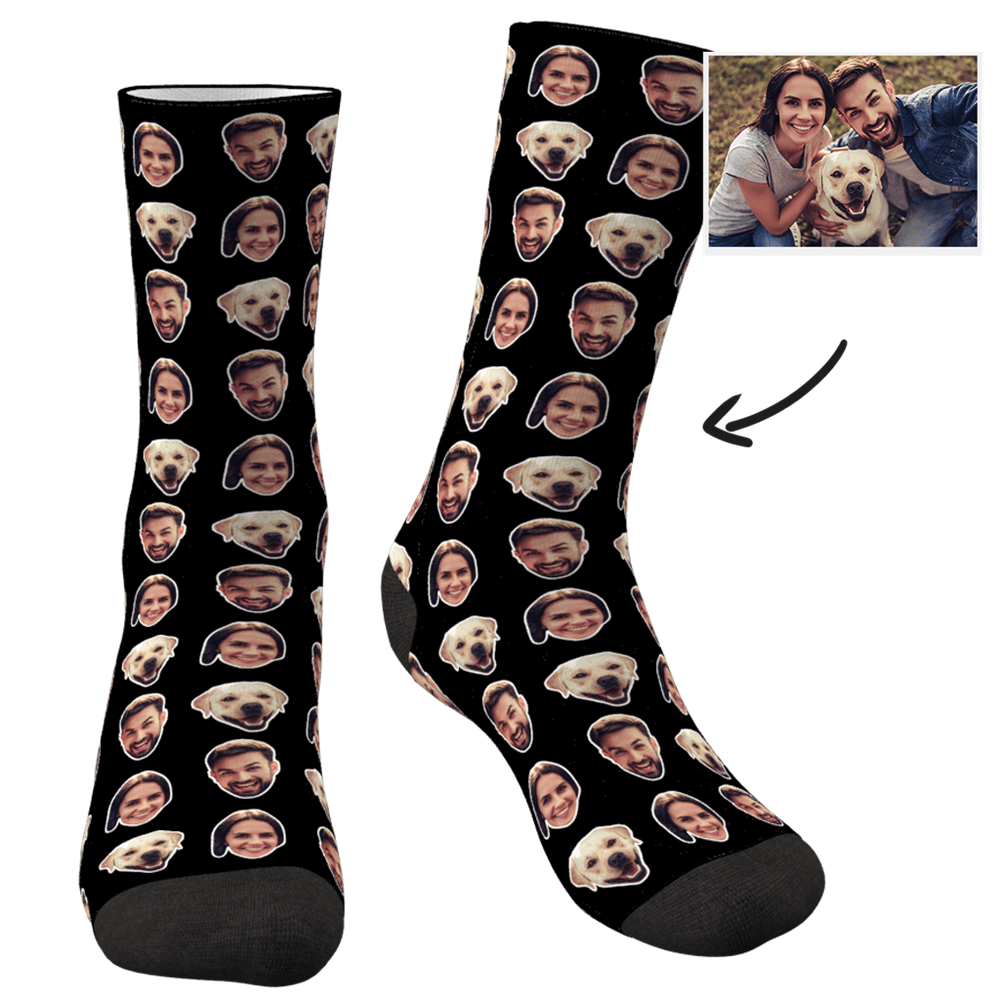 Custom Colorful Socks With Your Photo - Two Faces - MyPhotoSocks
