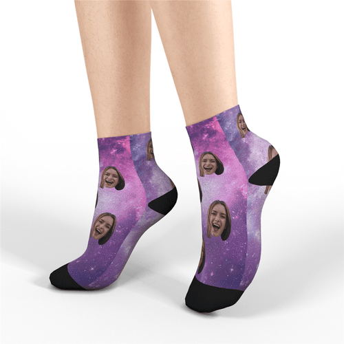 Custom Quarter Socks - Galaxy - MyPhotoSocks