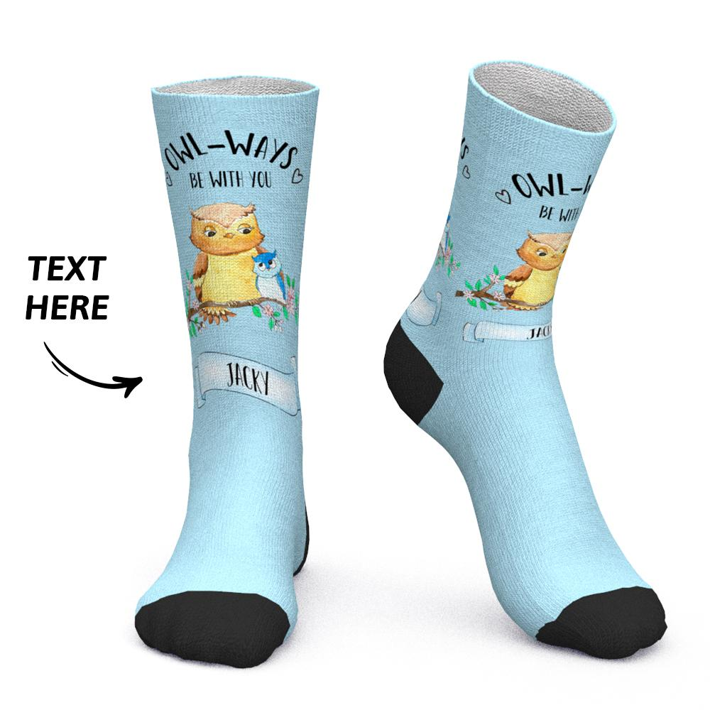 Custom Socks Custom Name Socks Owl-ways be with you