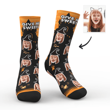 Custom Halloween Ghost Face Socks With Your Text - MyPhotoSocks