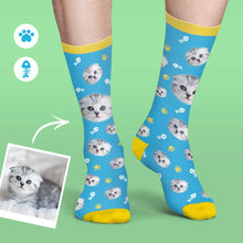 Custom Face Socks Colorful Candy Series Soft And Comfortable Cat Pet Socks