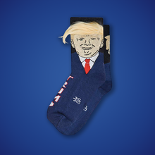 Donald Trump Socks With Fake Hair Comb Over Adult Crew Length Socks - MyPhotoSocks