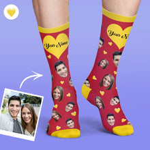 Custom Face Socks Colorful Candy Series Soft And Comfortable Heart Socks
