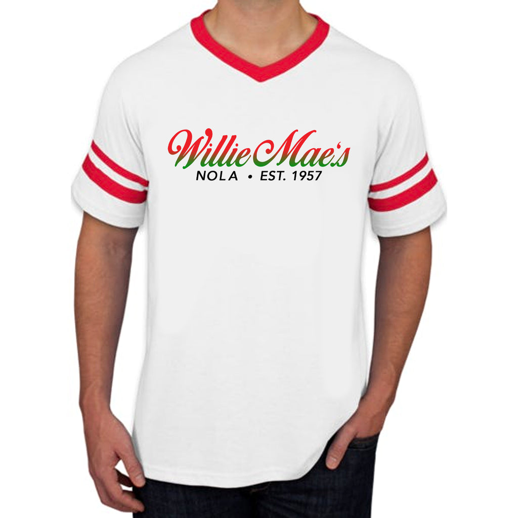 WMSH Red & White Striped Tee