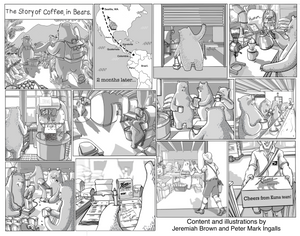 The Story of Coffee, in Bears