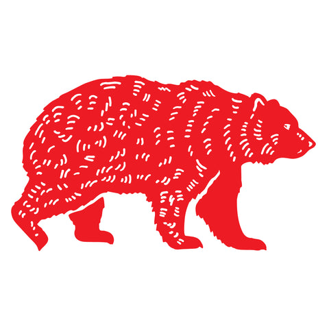 Kuma Coffee bear logo in red