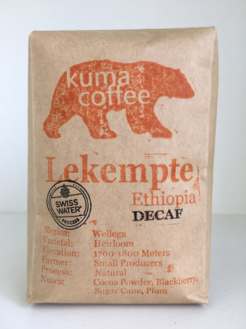 Ethiopia Lekempte Natural Decaf
