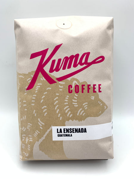 2.5lbs bulk bag of La Ensenada limited edition Guatemalan Coffee, roasted by Kuma Coffee