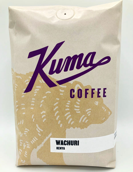 2.5lbs bulk bag of Wachuri fresh crop Kenyan Coffee, roasted by Kuma Coffee
