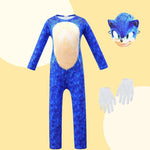 Sonic the Hedgehog Jumpsuit Kids Cosplay Costume Halloween Props