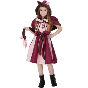 Alice in Wonderland Cheshire Cat Dress Halloween Costume for Kids