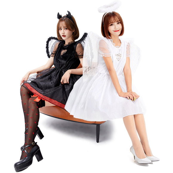 Angel and Demon Dress Costume Halloween Cos Prop for Women