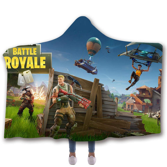 Battle Royale Logo Hooded Blanket