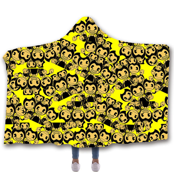 Bendy Hooded Blanket Bendy and the Ink Machine Blanket for Kids