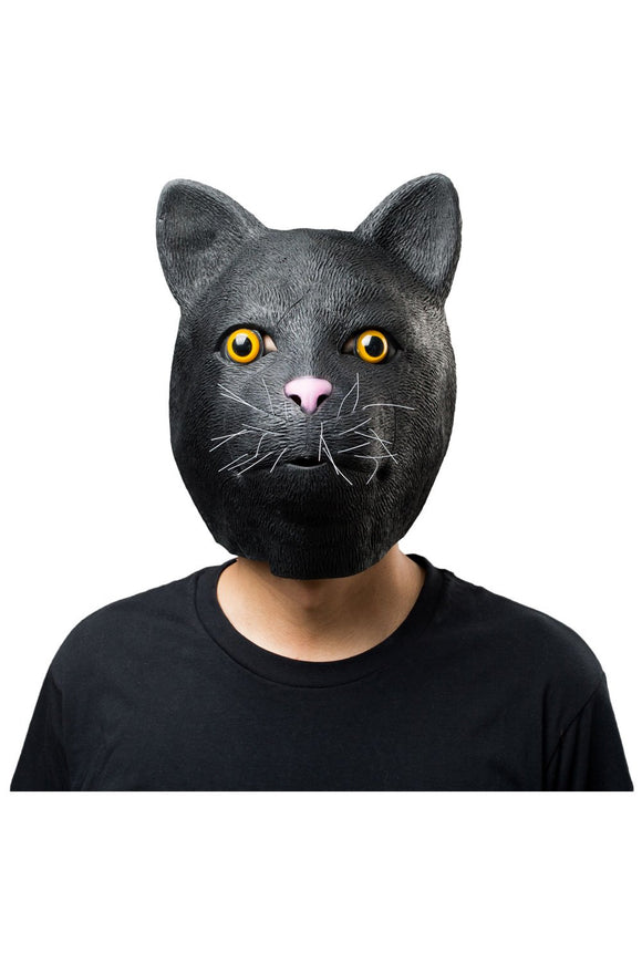 Black Cat Mask Halloween Animal Latex Masks Full Face Mask Adult Cosplay