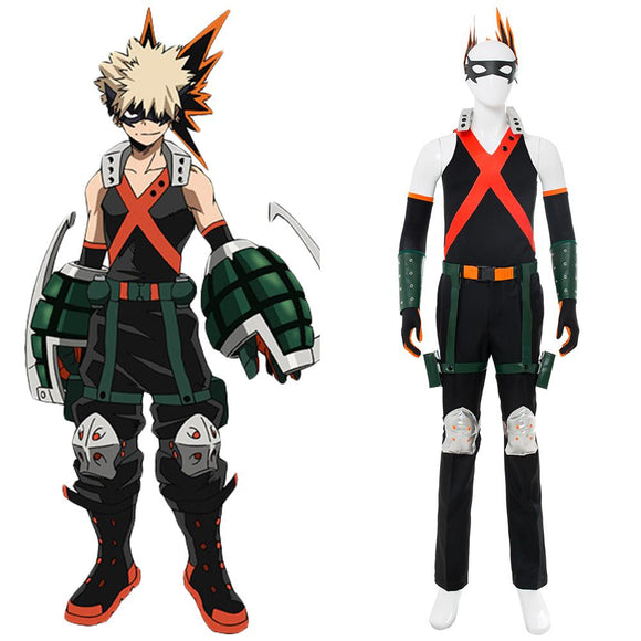 Boku No Hero Academia Katsuki Bakugou Battle Suit Cosplay Costume Tights