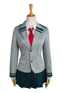 Boku no Hero Academia My Hero Academia Tsuyu Ochaco Uraraka Cosplay Costume School Uniform