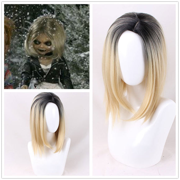 Bride of Chucky Cosplay Wig Bob Wig Cosplay Short Wig