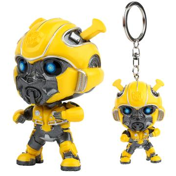 Bumblebee Keychain Car Decorations Key Ring Unique Gift
