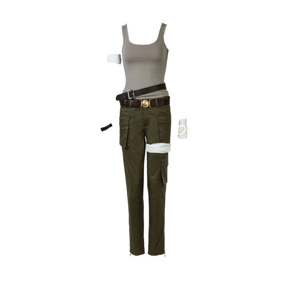 Tomb Raider Lara Croft Costume Cosplay Prop