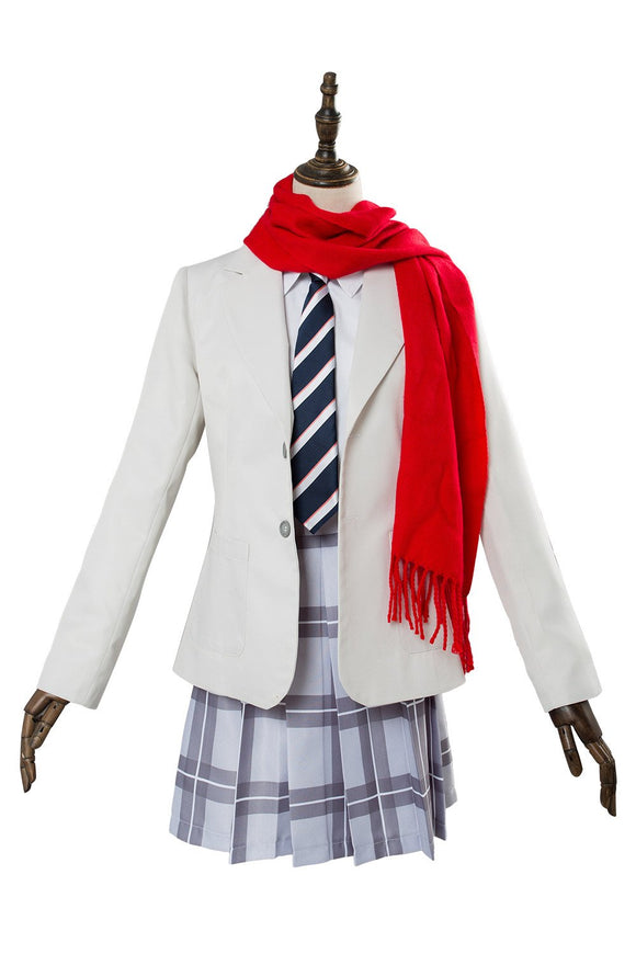 DARLING in the FRANXX Cosplay Costume School Uniform Red Scarf