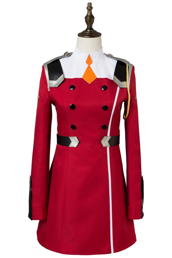 DARLING in the FRANXX Uniform Dress Cosplay Costume Red