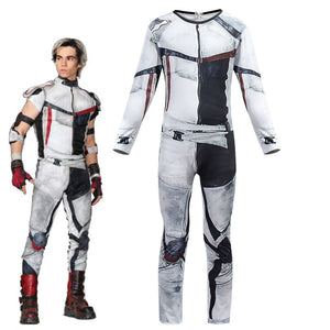 Descendants 3 Carlos Cosplay Costume Boys Jumpsuit Onesie Bodysuit for Kids Halloween Cosplay Costume