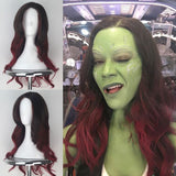 Endgame Guardians of The Galaxy Gamora Wig Cosplay Halloween