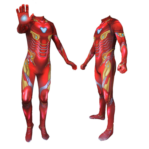 Endgame Iron Man Cosplay Costume Jumpsuit Body Suit Adult
