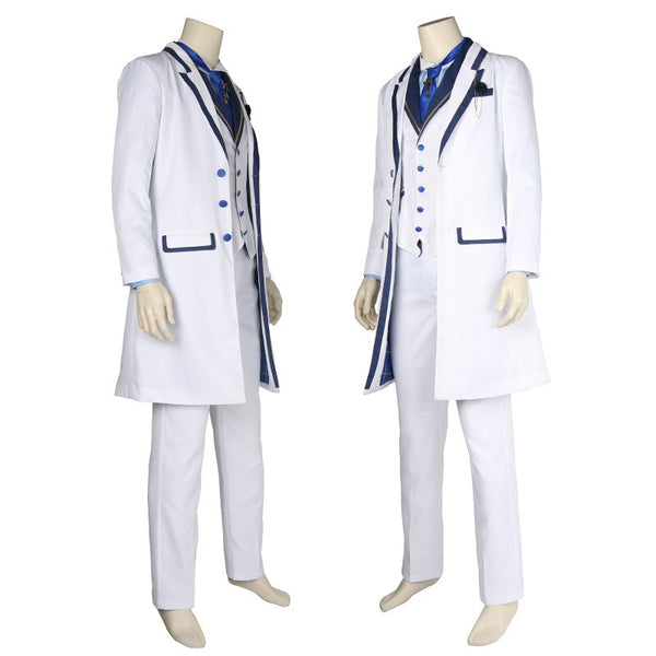 Fate Grand Orde Arthur Pendragon Cosplay Costume Whloe Set White Formal Dress