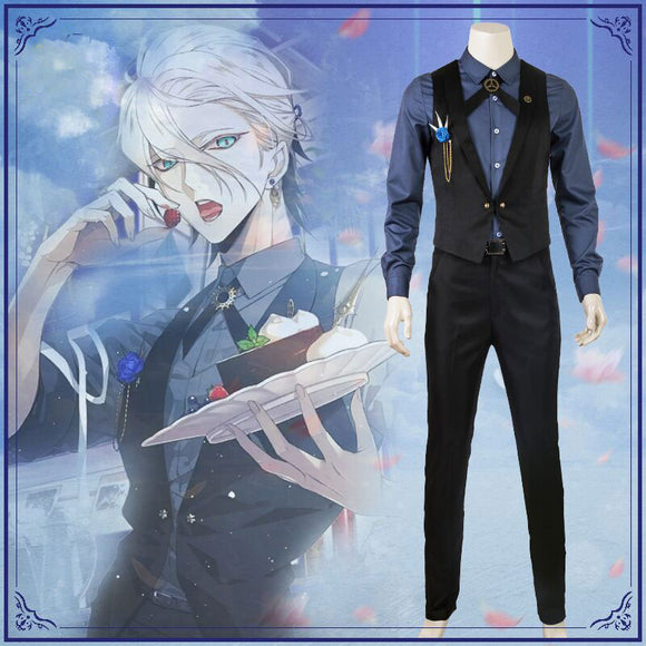 Fate Grand Order Karuna Cosplay Costume Formal Dress for Men Cosplay