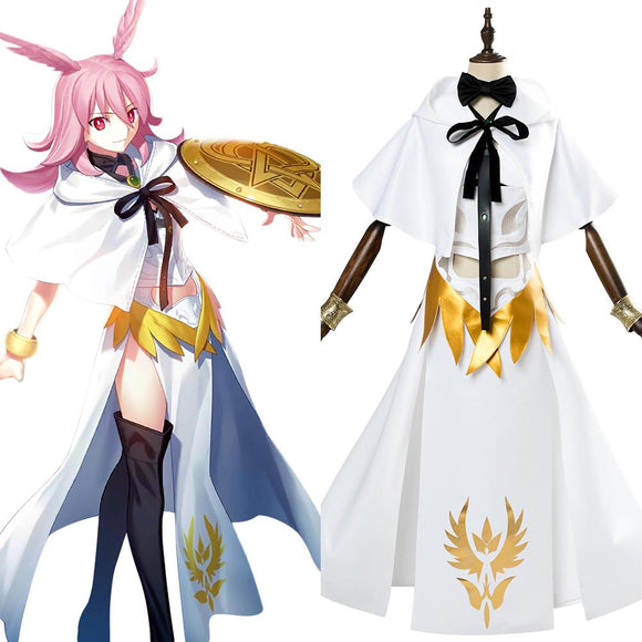 Fate Grand Order Lancer Valkyrie Hild Cosplay White Costume