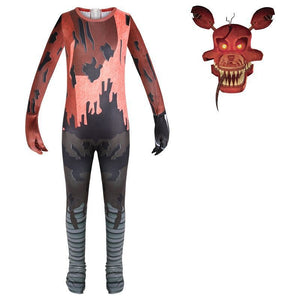 Five Nights At Freddy`s Foxy Costume Suit Jumpsuit for Kids Halloween Supplies