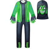 Fortnite Mezmer Costume Cosplay Jumpsuit with Headgear for Boys and Girls