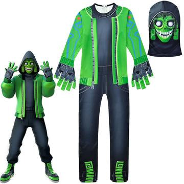 Fortnite Mezmer Costume Cosplay Jumpsuit Mask for Boys and Girls