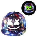 Fortnite Marshmello Galaxy Baseball Cap Hip Hop Hat Glowing in the Dark Youth