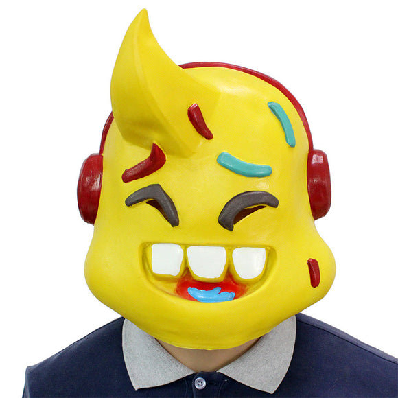 Fortnite Lil Whip Mask Cosplay Yellow Mask Costume Mask Latex Halloween Party